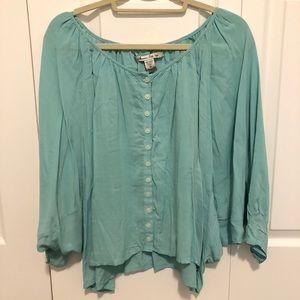 American Rag blue button down blouse